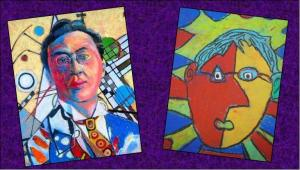 art workshop sample portraits