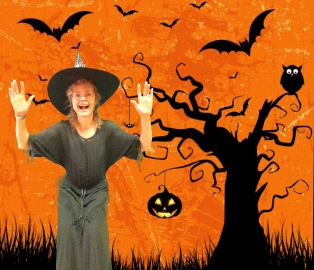 green screen halloween witch photo