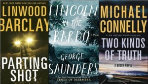 New book covers: Parting shot, Lincoln in the bardo, Two kinds of truth