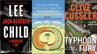 New books by Lee Child, Alexander McCall Smith, Clive Cussler