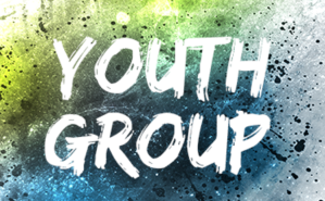 "The words ""Youth Group"" on a colorful background"