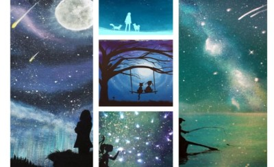 night sky artwork