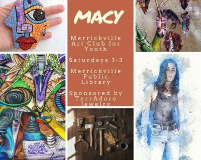 Poster for Merrickville Art Club for Youth