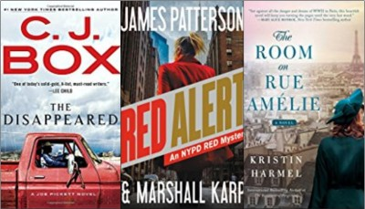 New boo covers: The disappeared, Red alert, The room on Rue Amelie