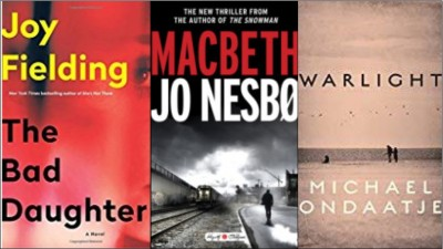 New book covers: The bad daughter, Macbeth, Warlight