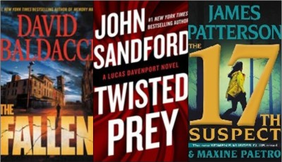 New book covers: The fallen, Twisted prey; 17th suspect