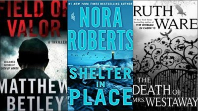 New Book covers: Field of valor, Shelter in place, The death of Mrs