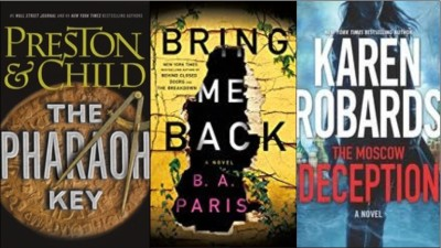 New Book covers: The pharaoh key, Bring me back, The Moscow deception