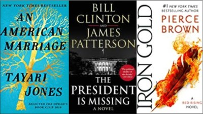 new Books: An American marriage, The president is missing; Iron gold