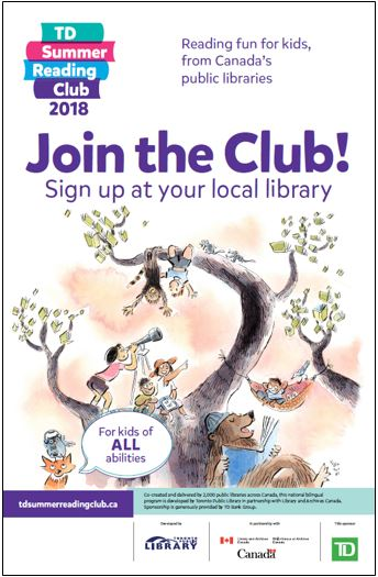 TD Summer Reading Club poster