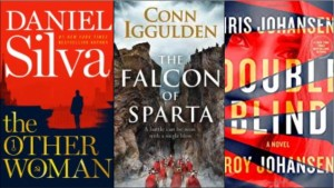 New Books: The other woman, The falcon of Sparta, Double blind