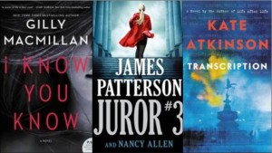 New Book covers: I know you know, Juror #3, Transcription
