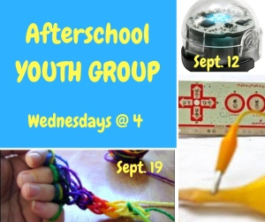 Afterschool Youth Group sign