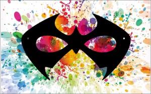 sample art: superhero mask silhouette