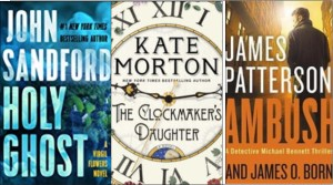 New book covers: Holy ghost, Clockmaker's daughter, Ambush