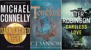 New book covers: Dark sacred night, Tombland, Careless love