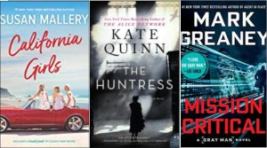 New Book Covers: California girls, The Huntress, Mission critical