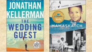 New Book Covers: The wedding guest; Mamaskatch