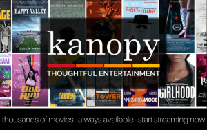 graphic for Kanopy film streaming