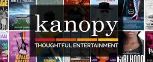 graphic for Kanopy film streaming service