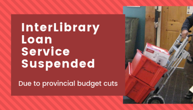 Interlibrary loan service suspended