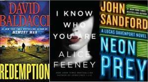 New book covers: Redemption; I know who you are; Neon prey