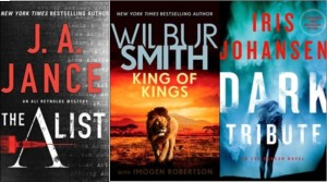 New book covers: The A list, KIng of Kings, Dark Tribute