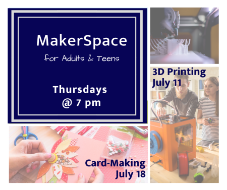 graphic for Makerspace for adults and teens