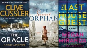 New book covers: The Oracle, The secret orphan, The last house guest