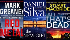 New book covers: Red metal, The new girl; All that's dead