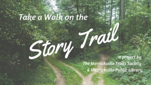 Story Trail graphic - picture of forest trail