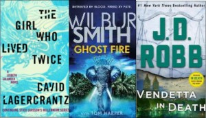 New Book Covers: The girl who lived twice; Ghost Fire; Vendetta in Death