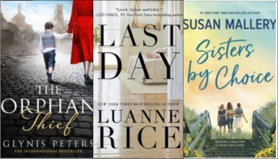 New Books: The orphan thief; Last day; Sisters by choice