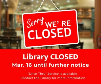 Library closed graphic