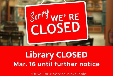 Library Closed starting Mar. 16