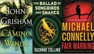 New book covers: Camino winds, Ballad of songbirds and snakes; Fair warning