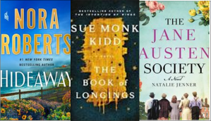 New Book Covers: Hideaway ; The book of longings; The Jane Austen society