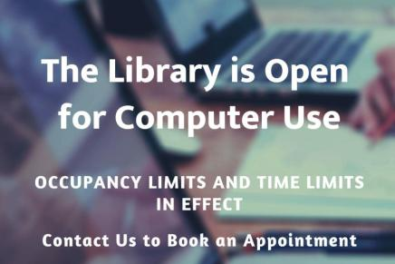 Library Open for Computer Use – starting June 12!