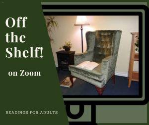 "Graphic for ""Off the Shelf"" via Zoom"
