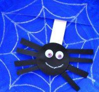 children's Halloween spider craft