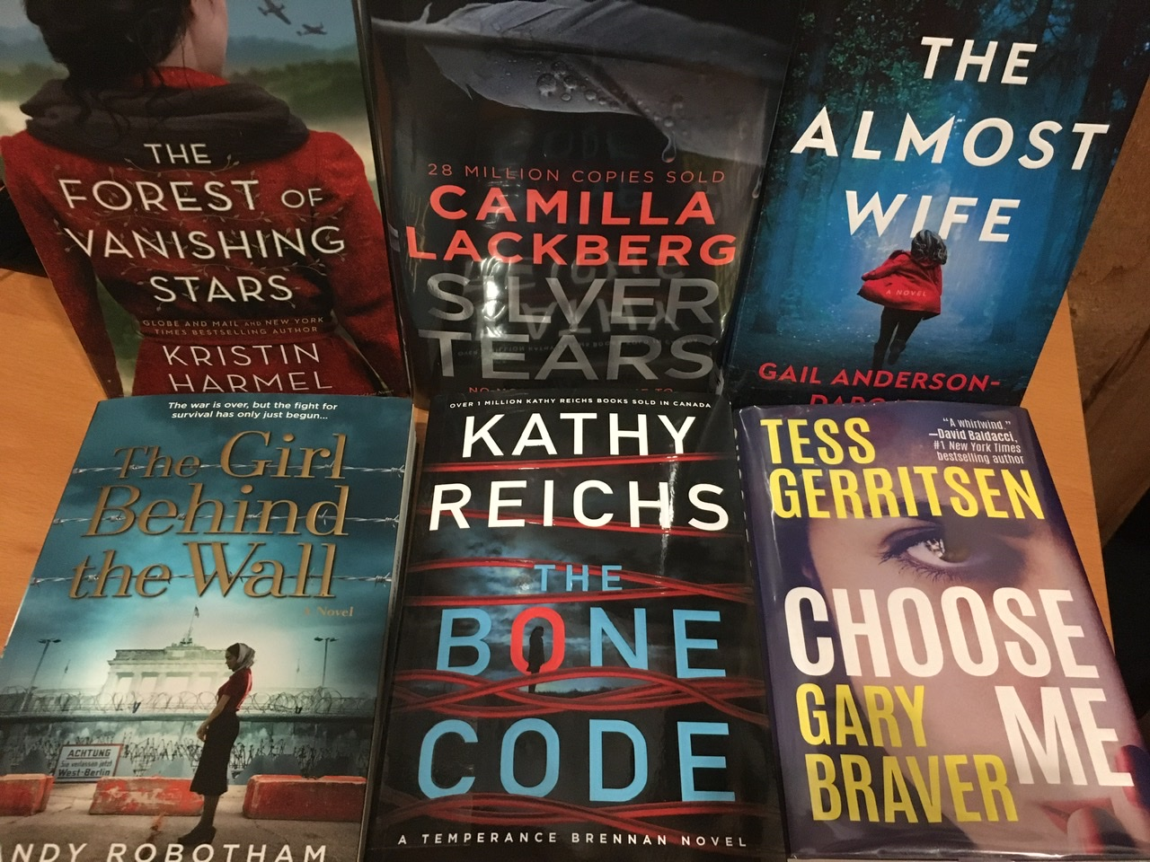photos of new book covers